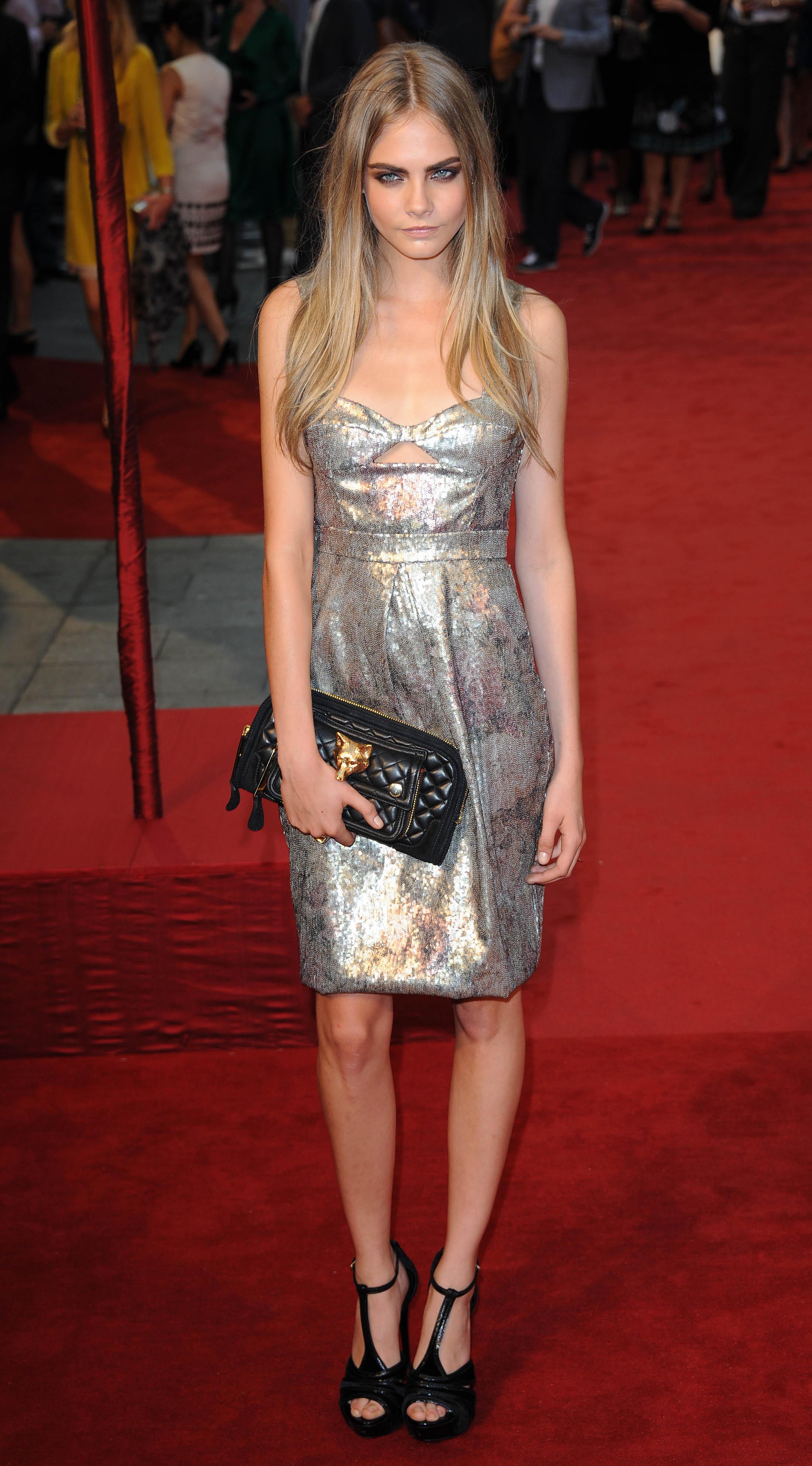 Cara Delevingne attends the UK Premiere of Anna Ka