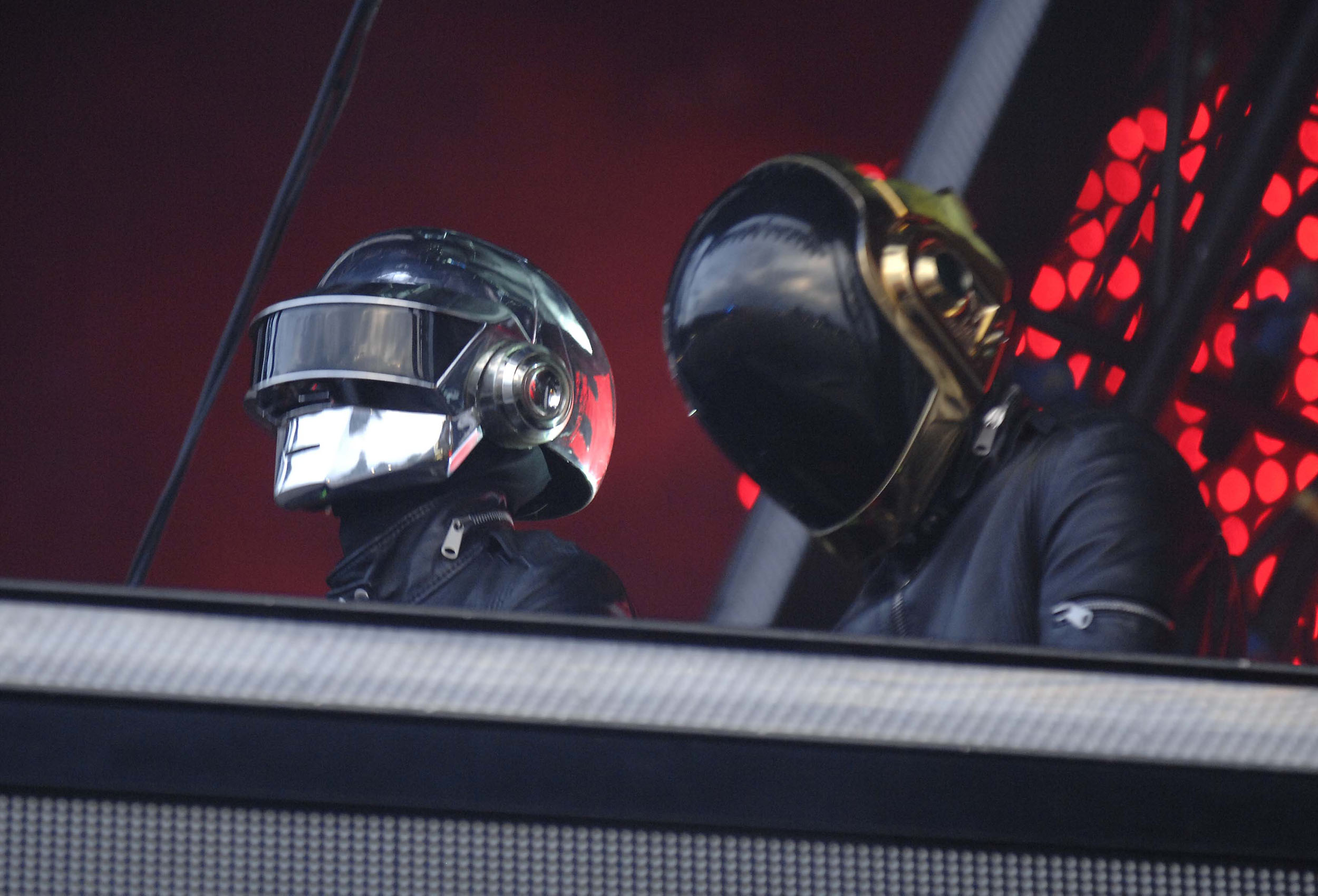 Daft Punk on stage