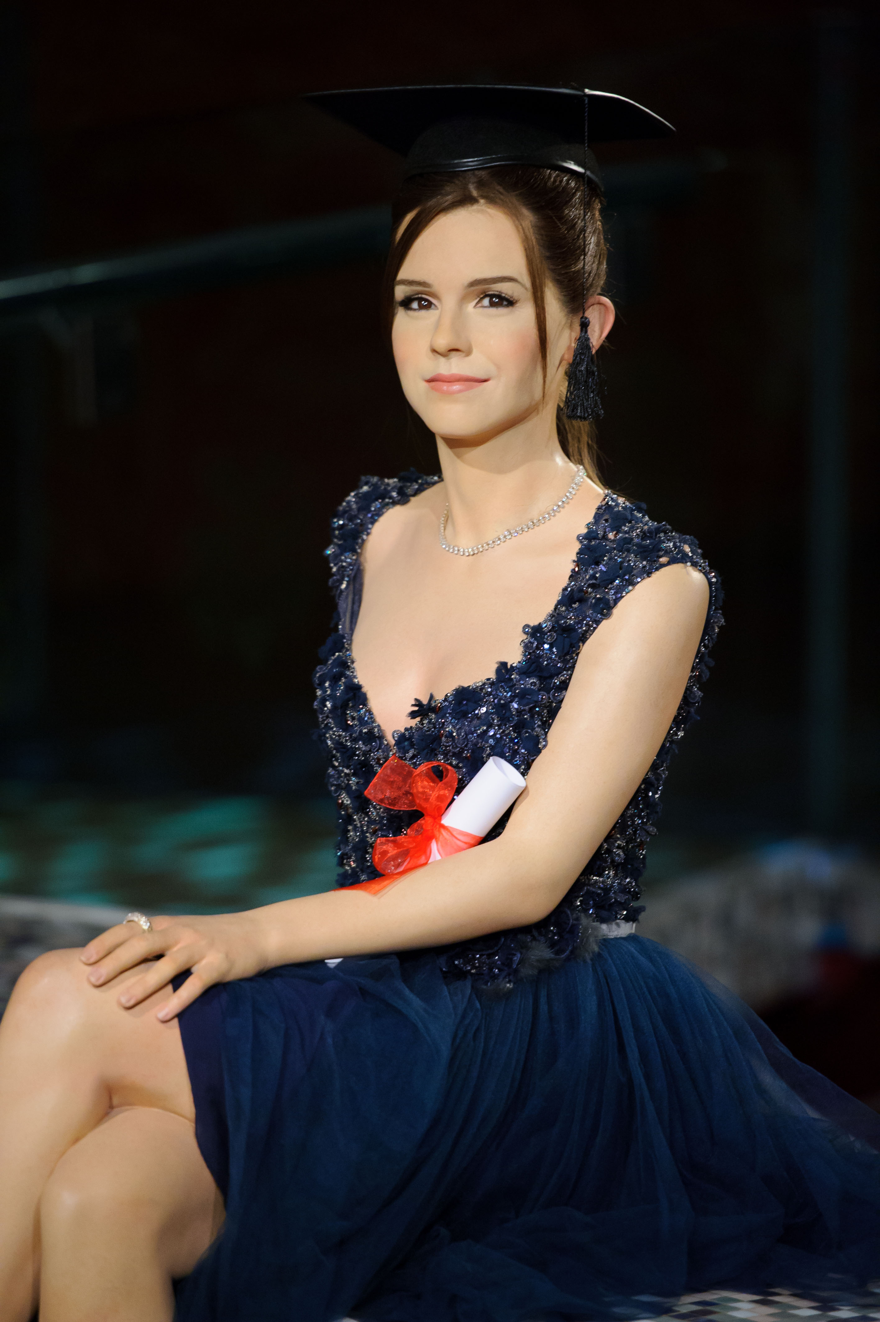 Emma Watson graduation waxwork