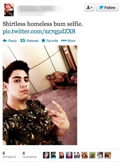 Homeless Selfie