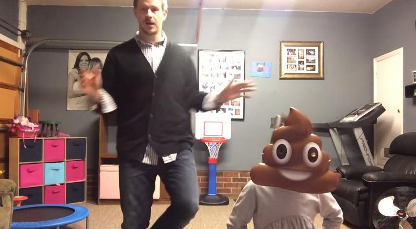 Daddy Daughter Dance Poop Emoji