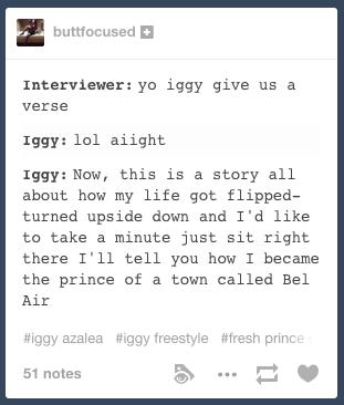Iggy Freestyle Fresh Prince