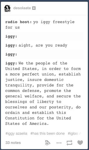 Iggy Freestyle We The People