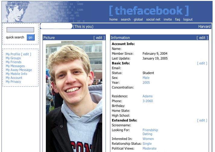 Facebook in 2005