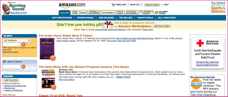 Amazon in 2005