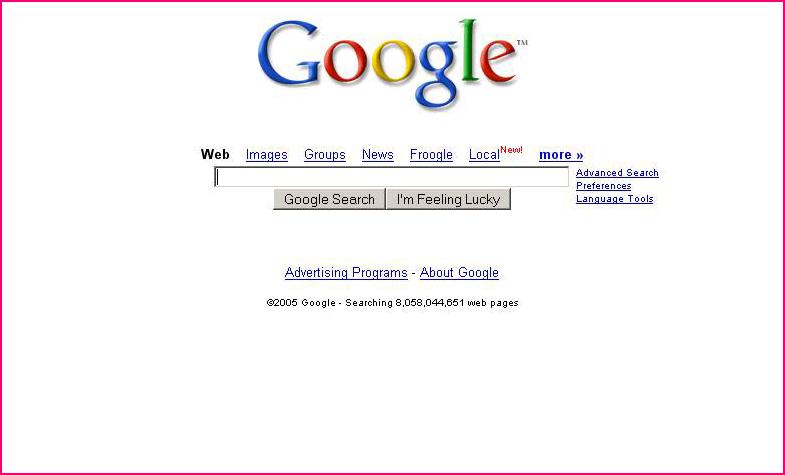 Google in 2005