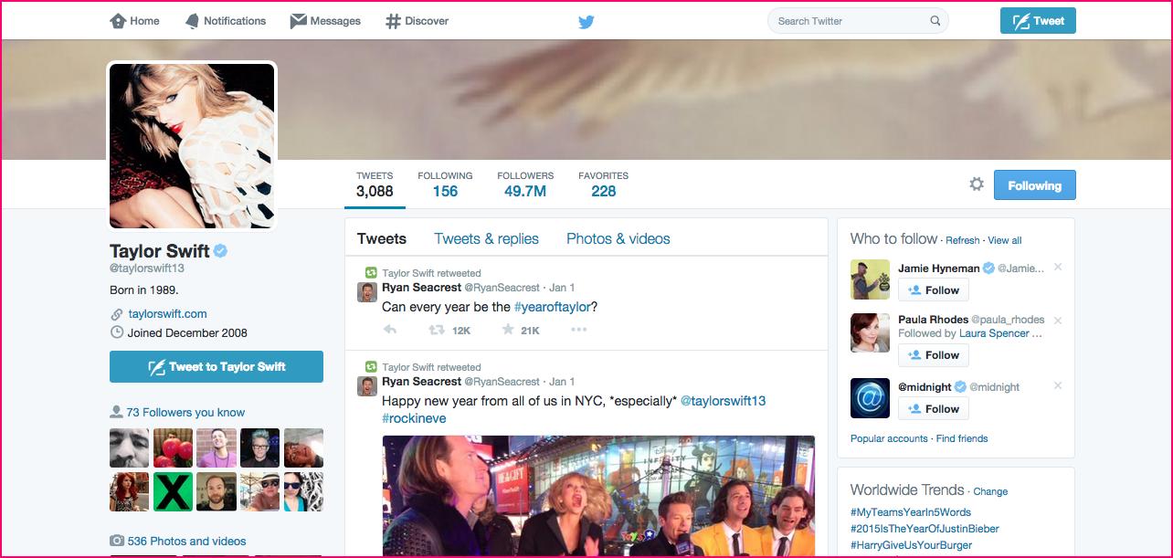 Twitter in 2015