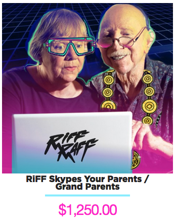 RiFF RAFF Skypes your Grandparents