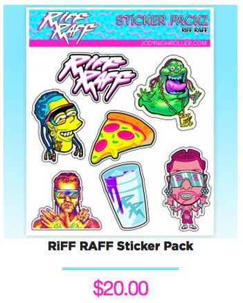 RiFF RAFF Sticker pack