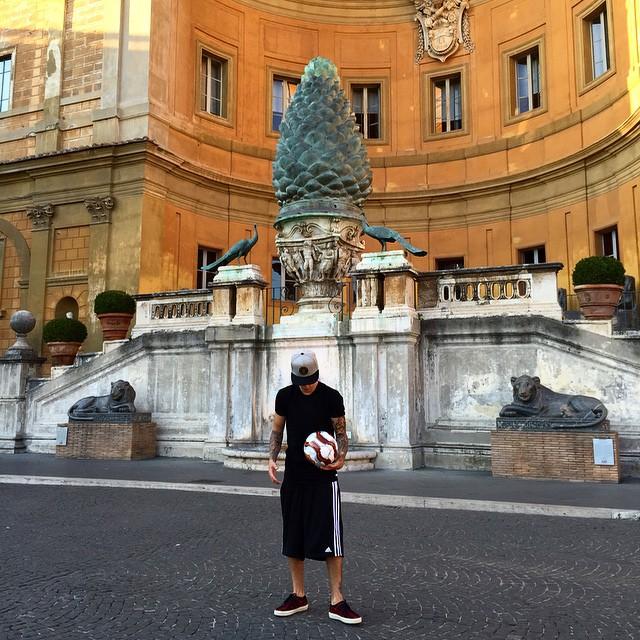 Justin Bieber at the Vatican