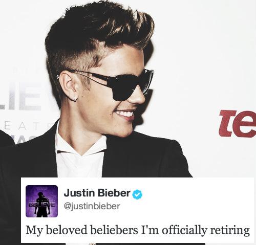 Justin Bieber Retires