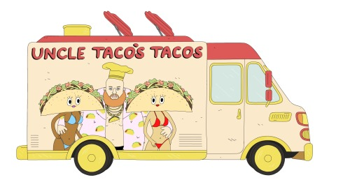 Foodtruck illustrated