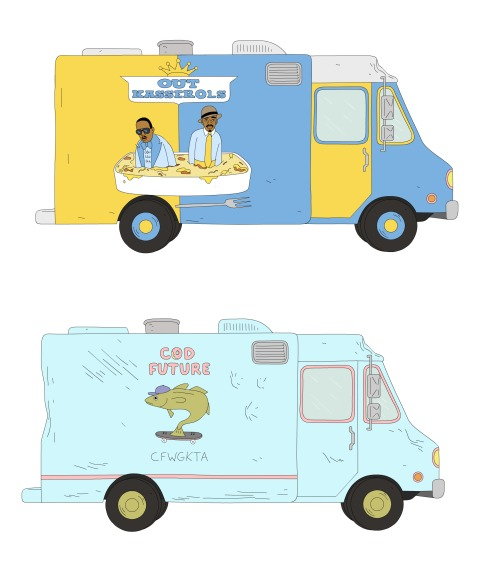 Illustrated foodtrucks
