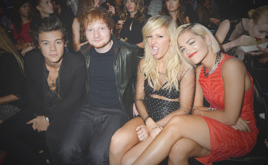 Harry Styles, Ed Sheeran, Rita Ora, Ellie Goulding