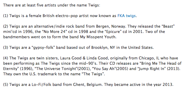 twigs on last fm