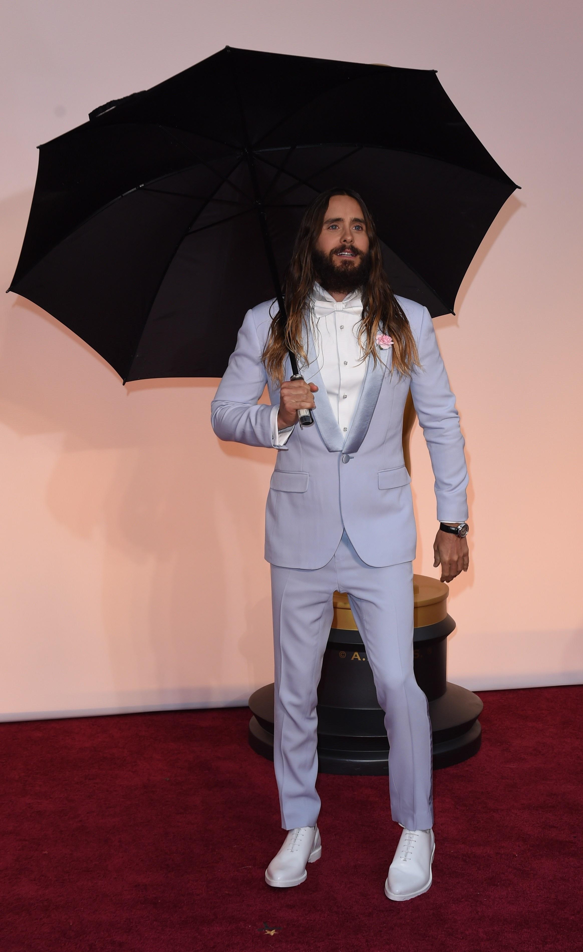 Jared Leto's Giant Umbrella
