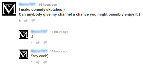Crappy YouTube Comments