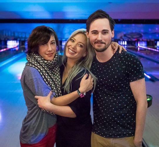 Hilary Duff, Lalaine and Jake Thomas