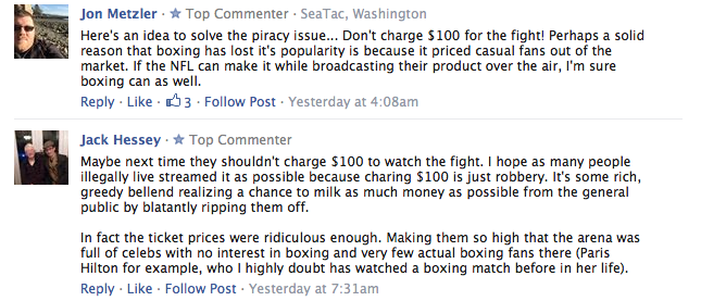 boxing comments