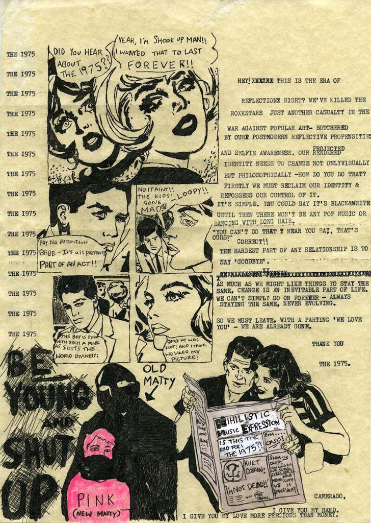 The 1975 Break-Up Comic Strip