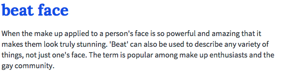 Beat face