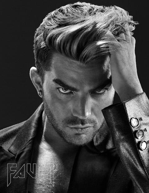 Adam Lambert on the cover of Fault magazine