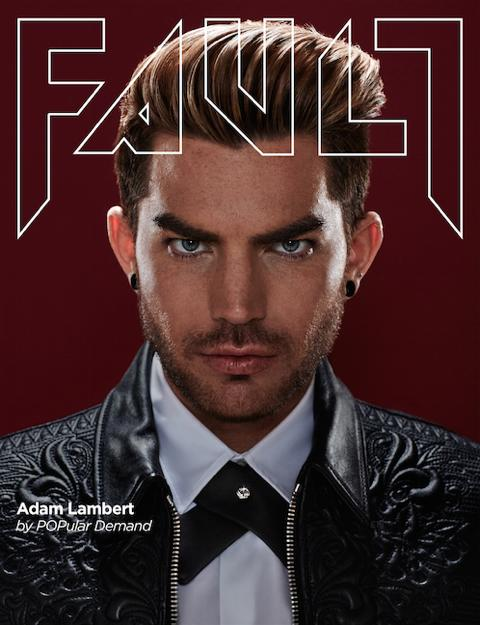 Adam Lambert's cover of Fault magazine