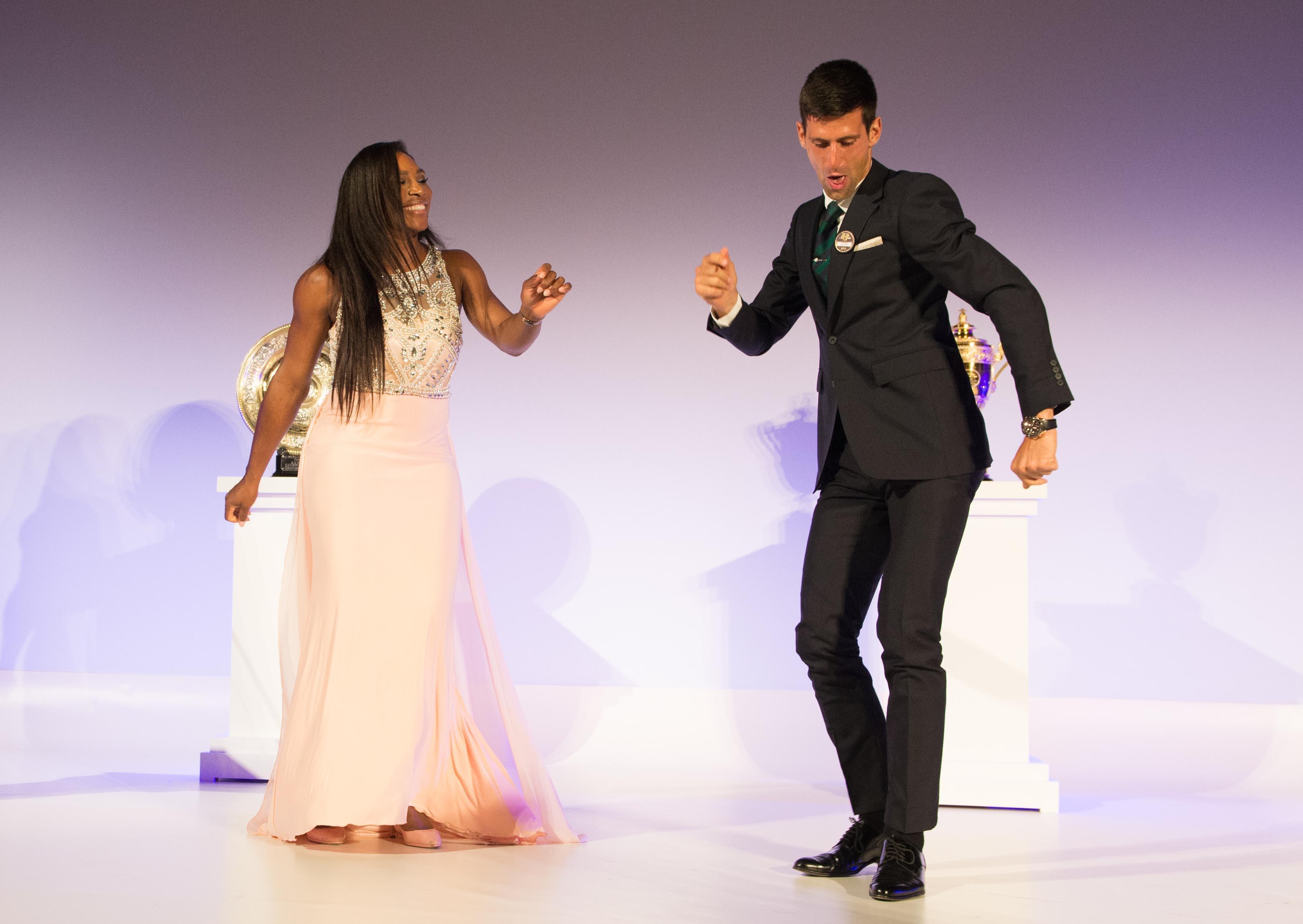 Serena and Novak dancing