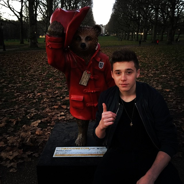Brooklyn Beckham and Paddington Bear