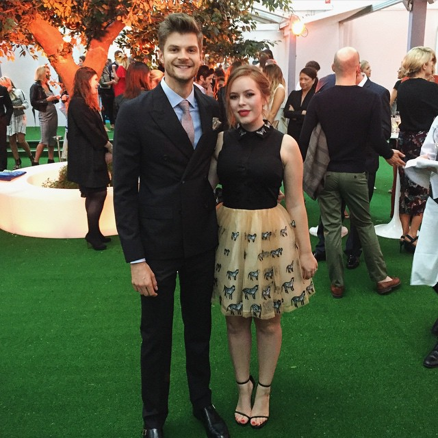 Jim Chapman and Tanya Burr at awards ceremony