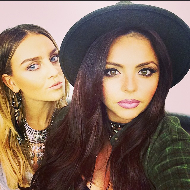 Jesy Nelson and Perrie Edwards in selfie