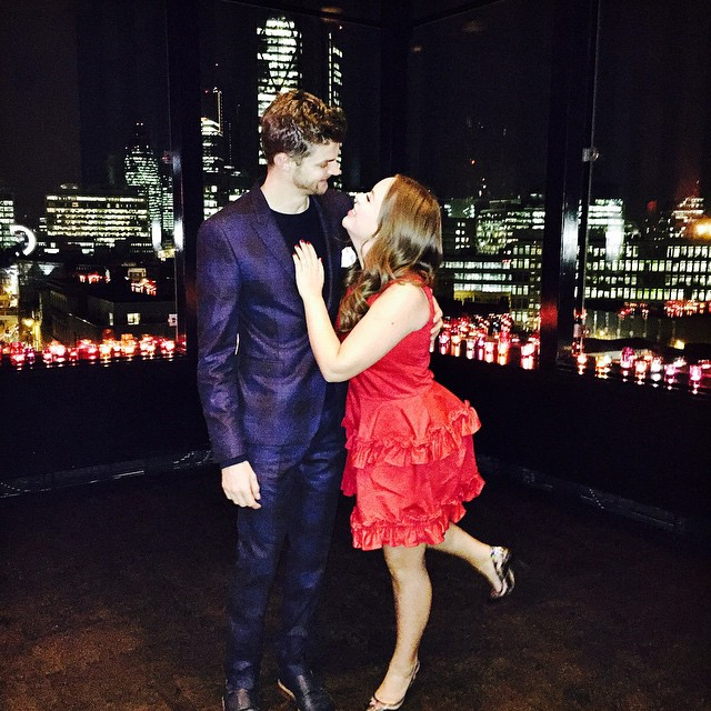 Jim Chapman and Tanya Burr at BAFTAS party