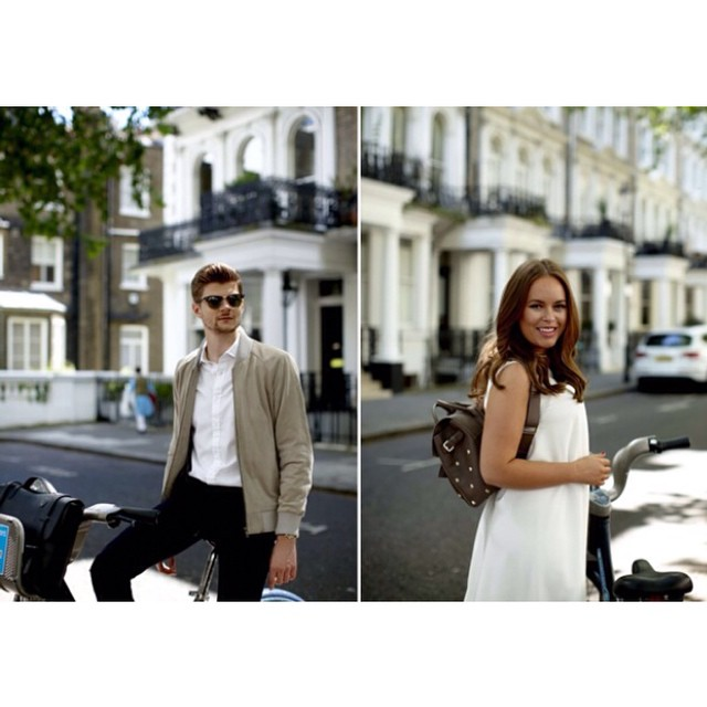 Tanya Burr and Jim Chapman modelling for Mulberry