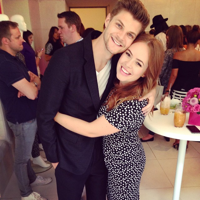 Jim Chapman and Tanya Burr at book launch