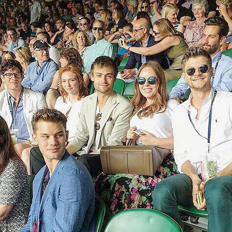 Jim Chapman and Tanya Burr at Wimbledon