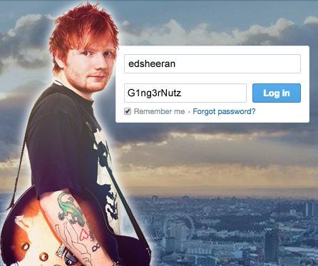 Celebrity Twitter passwords