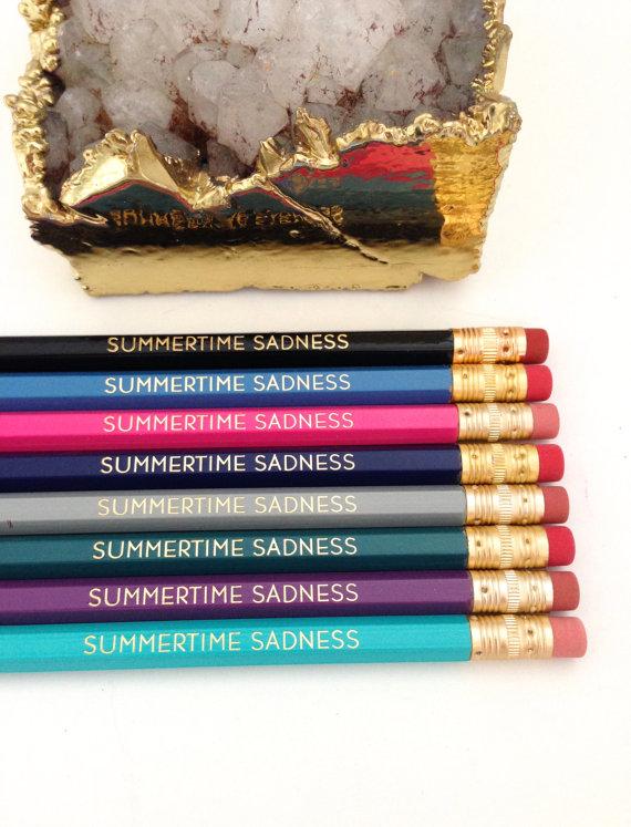 Lana Del Rey pencils
