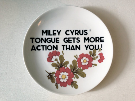 Miley Cyrus plate