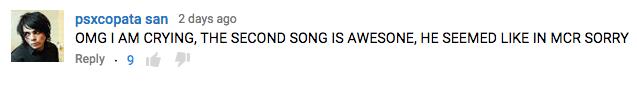 Gerard Way Pinkish comments