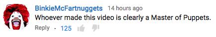 Pug video comment