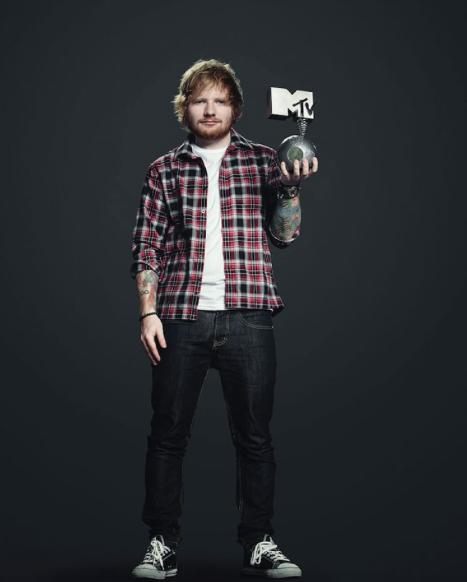 Ed Sheeran EMA Host Photo