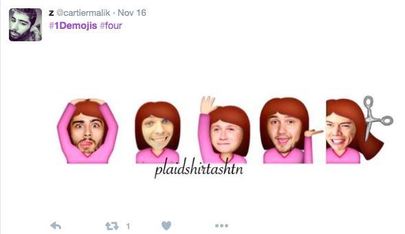 1D Emoji Tweet