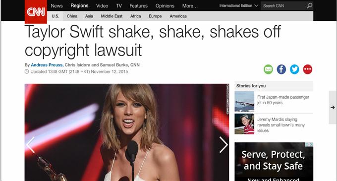 cnn taylor headline