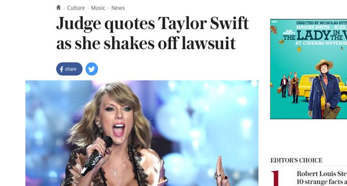 telegraph taylor headline