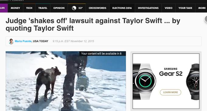 Usatoday taylor headline