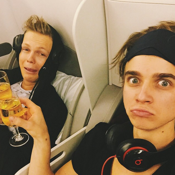 Joe and Caspar