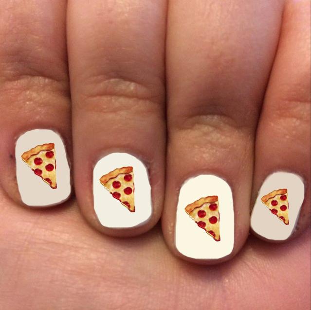 Pizza Nail Art