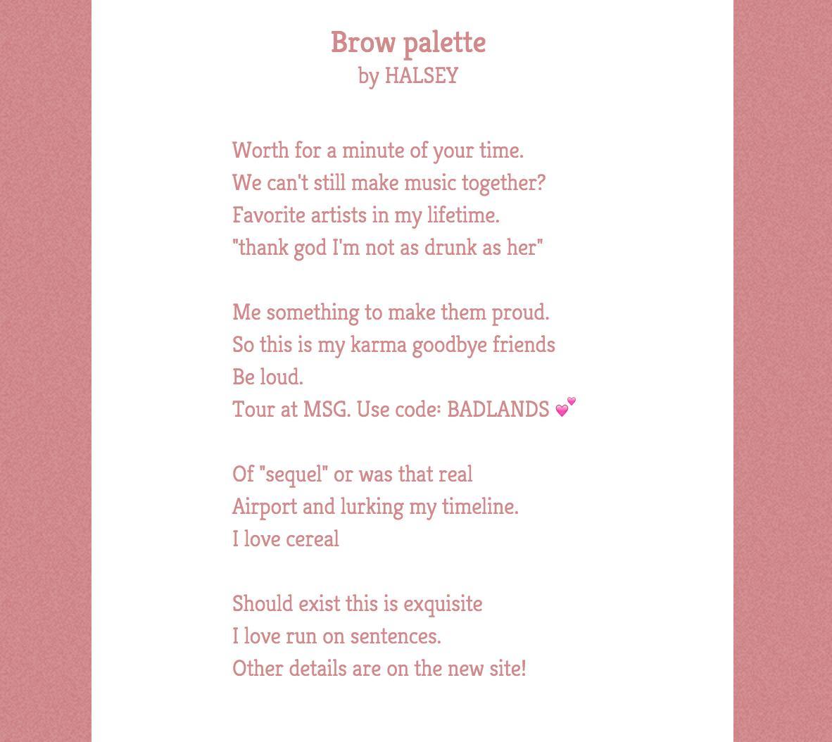 halsey poem