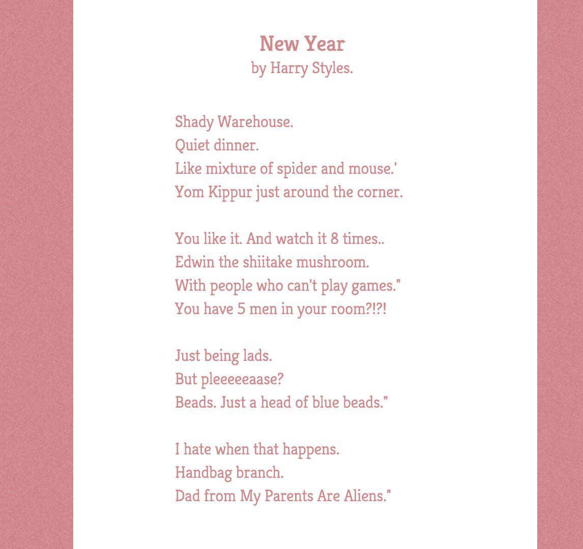 Harry poem