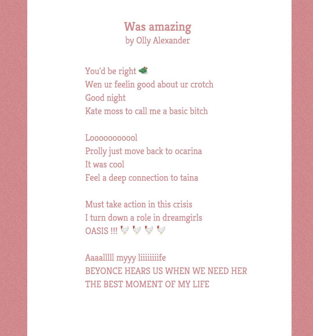 olly poem
